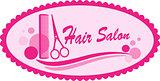 pink hair salon symbol