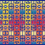 colored geometric retro background