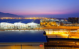 Hong Kong International Airport at the evening