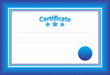 Blue Horizontal Certificate Template