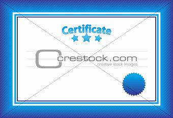 Blue Horizontal Certificate Template
