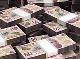 Stack of Mexican Pesos