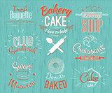 Bakery characters retro