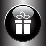 Vector icon of present box