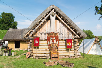 Old slavic village in Poland
