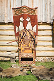 Old throne of slavic prince