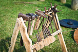 Old rack with blacksmith's tool