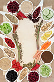 Diet Food Abstract Border