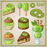 Set of sweets with kiwi