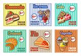 Set of baking menu card