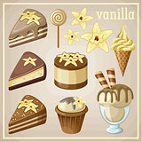 Set of sweets vanilla