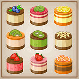 Image set of nine cupcakes.
