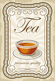 Picture of a vintage poster with a cup of tea