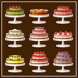 Picture of a set of cakes