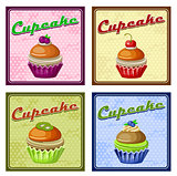 Picture of set of four vintage posters cupcake
