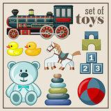 Set of vintage toys
