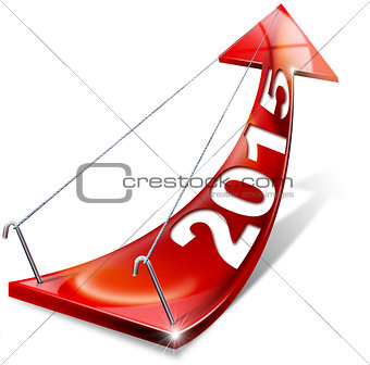 2015 Red Positive Arrow