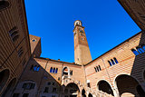 Lamberti Tower and Ragione Palace - Verona Italy