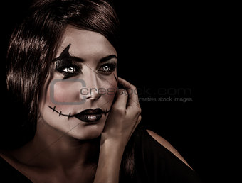 Aggresive Halloween makeup