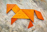 tangram horse abstract