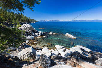 Beautiful Shoreline of Lake Tahoe