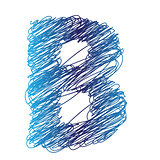sketched letter B