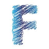 sketched letter F