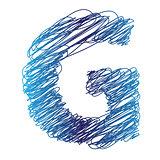 sketched letter G