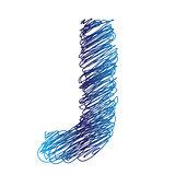 sketched letter J