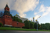 View to Kremlin from Moscow river quay