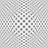 Design monochrome warped diamond pattern