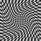 Design monochrome movement illusion background