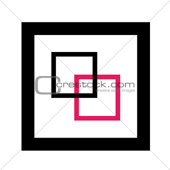 Abstract composition with squares