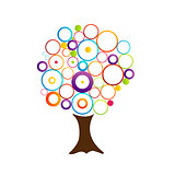 Abstract tree with circles