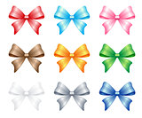 multi colored bows set