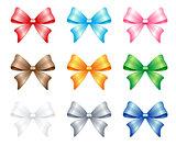 multi colored bows set