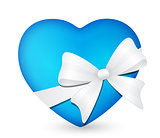 heart with white bow 3