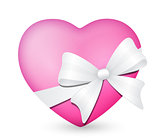 heart with white bow 2