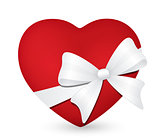 heart with white bow 1