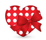 heart with red bow