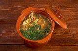 Russian sauerkraut soup stchi