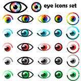 Set of eyes icons and symbols