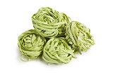 green pasta tagliatelle