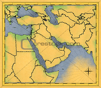 Old map of the Middle East