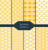 Set of geometric seamless patterns