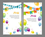 Party banners with flags and ballons