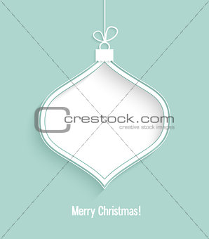 Christmas card with hanging toy.