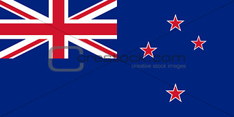 Flag of New Zealand - Authentic version