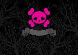 Pink crossbones