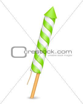 Green Firework Rocket
